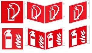 Feuerlöscher-Schilder ISO u. BGV