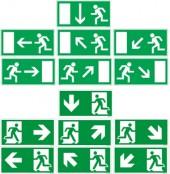 Flucht-Rettungswegzeichen ISO u. BGV