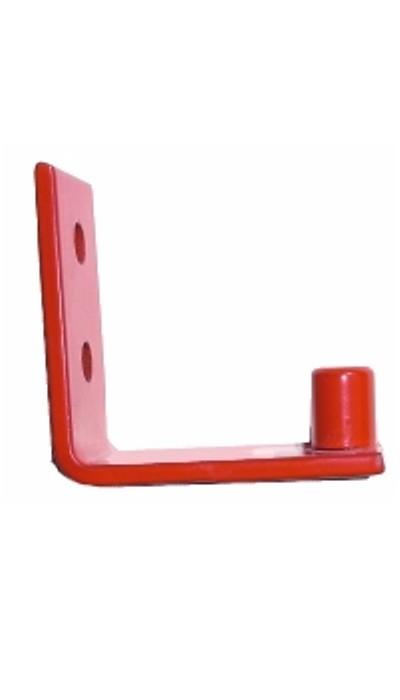 Göckler Feuerlöscher-Wandhaken rot lackiert für C5