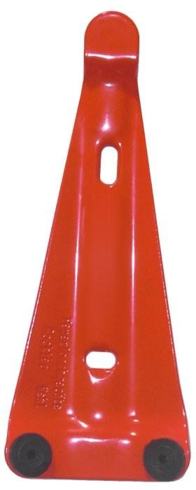 Göckler Feuerlöscher-Wandhalter rot lackiert mit 2 Gummiauflagen