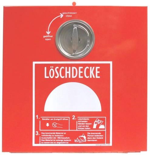 GÖCKLER Löschdeckenbehälter aus Stahlblech rot