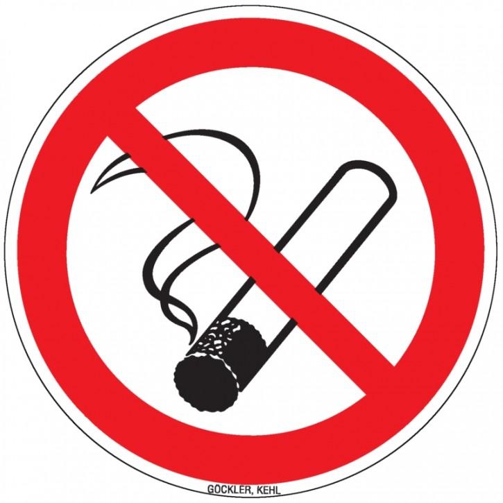 Göckler Rauchen verboten-Schild BGV A8 / P001 Ø in 100