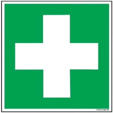 Hier klicken zur Auswahl von Göckler Erste Hilfe-Symbol-Schild BGV A8 E03, von 100-200 mm in verschiedenen Materialien