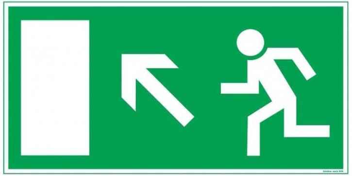 Göckler Pfeil nach links-aufwärts-Flucht-Rettungswegzeichen-Symbol-Schild BGV A8 F30