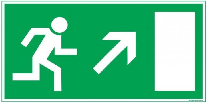 Göckler Pfeil nach rechts-aufwärts-Flucht-Rettungswegzeichen-Symbol-Schild BGV A8 F50