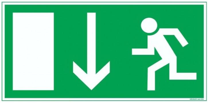 Göckler Pfeil nach unten-Notausgang-Flucht-Rettungswegzeichen-Symbol-Schild BGV A8 F80