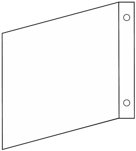 Fahnenschild  blanko  Gr.: 200 x 200 mm