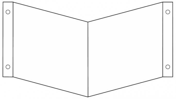 Winkelschild / Nasenschild  blanko  Gr.: 150 x 150 mm