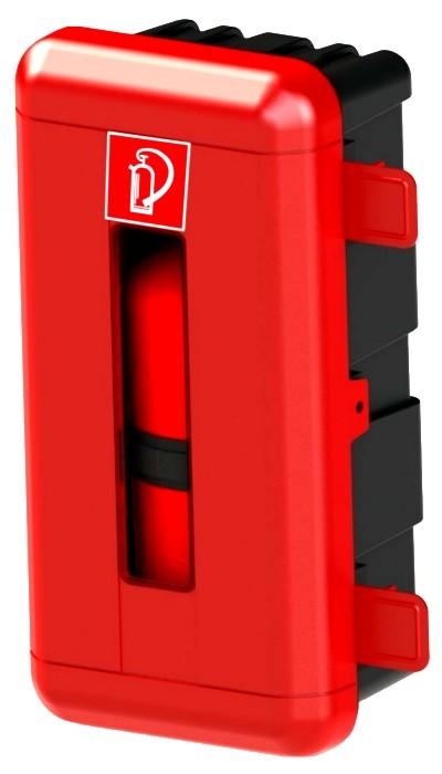 6 kg Göckler GIMBOX6E Feuerlöscherschutzschrank Kunststoff