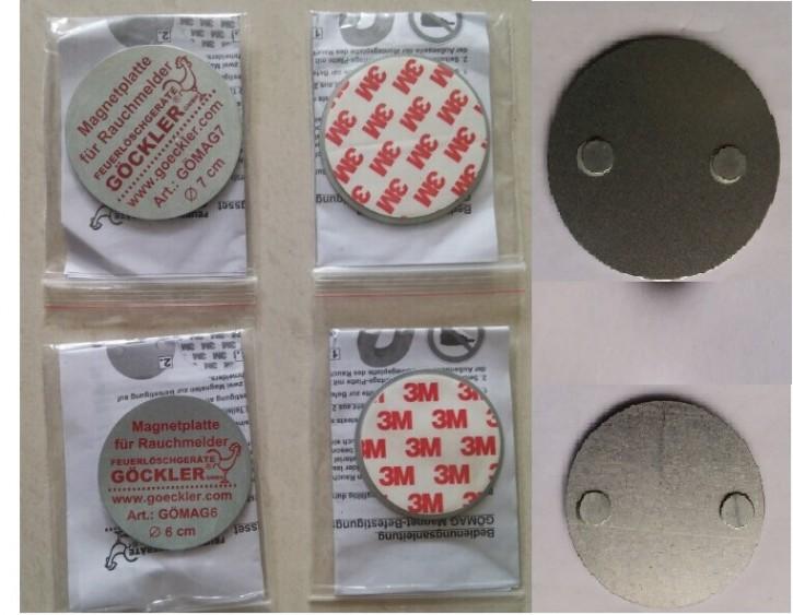 GÖCKLER Magnet- Befestigungsset 2-teilig Durchmesser 6 cm