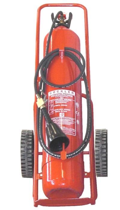 30 kg Göckler Kohlendioxid-Feuerlöscher fahrbar EN 1866